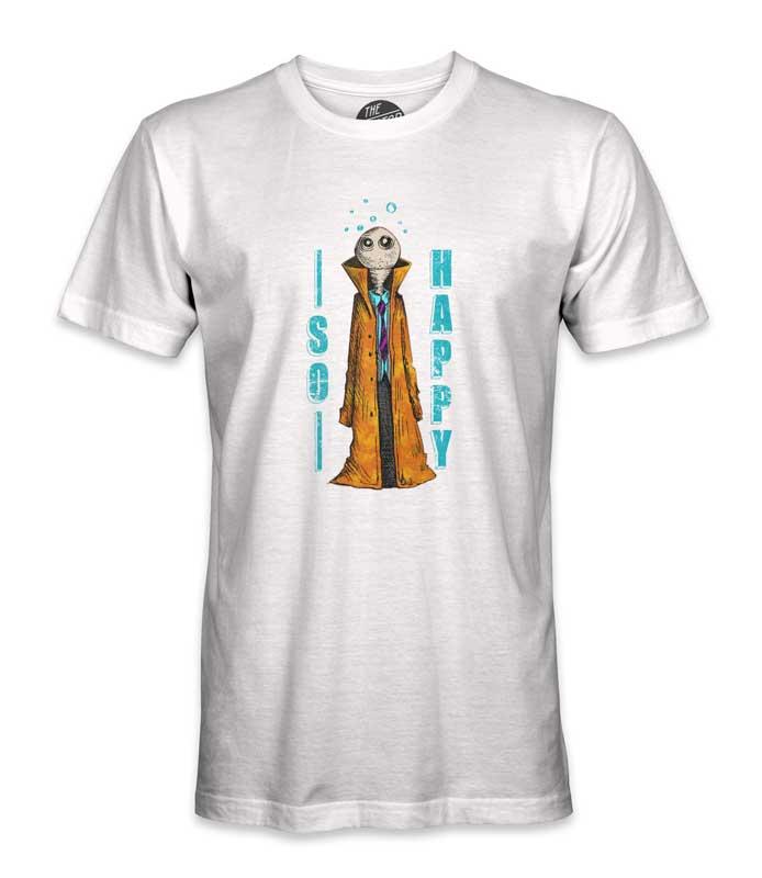 tee shirt imprimé humanoïde blanc